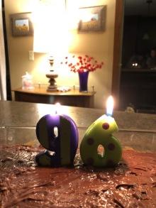 96 bday cake